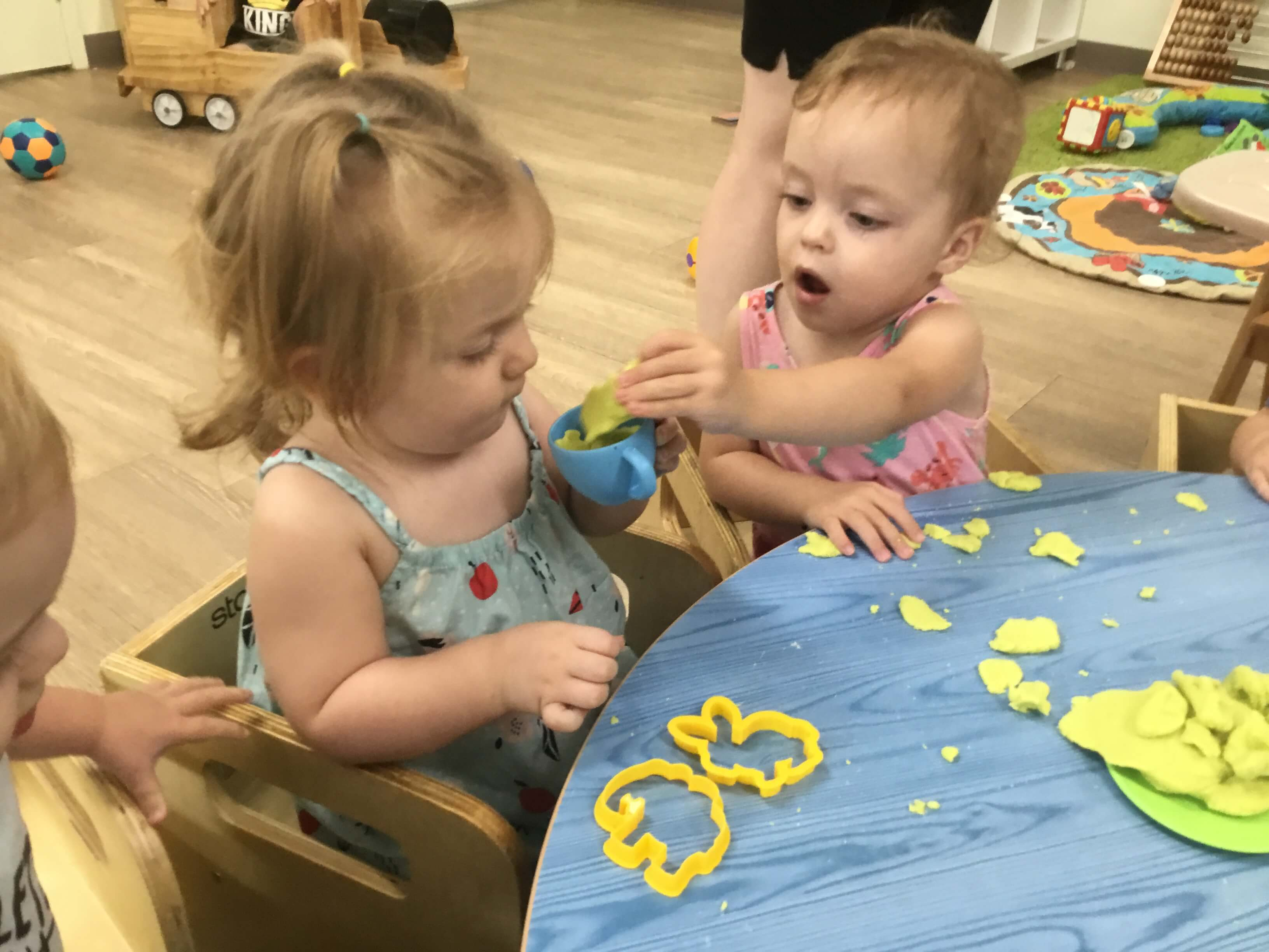 As mentioned yesterday, while we follow the children's interests, there is a lot of in-depth learning taking place in every one of our six studios. These two beautiful girls were quietly playing alongside each other with some play dough, when one noticed that her friend sitting next to her should have some play dough in […]