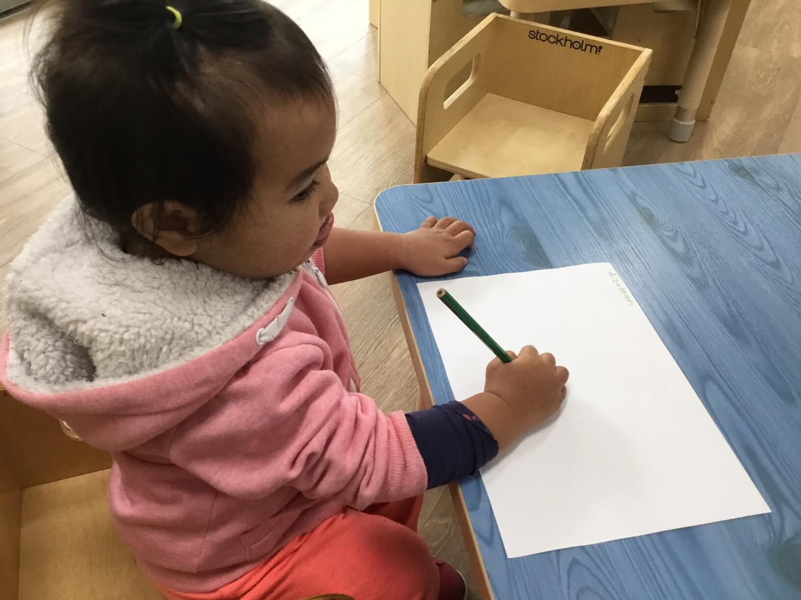 It may look like this toddler (she is only 16 months old and attends our Guran Studio) is writing but it is so much more than that. Yes she is making marks on the paper, however she is also developing necessary dispositions such as concentration (have a look at her tongue sticking out), perseverance (as […]